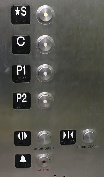 Canada Line Elevator floor indicators